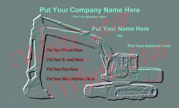 Heavy Equipment Professional Dump Truck Embossed