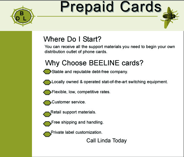 Beeline Advertising Card