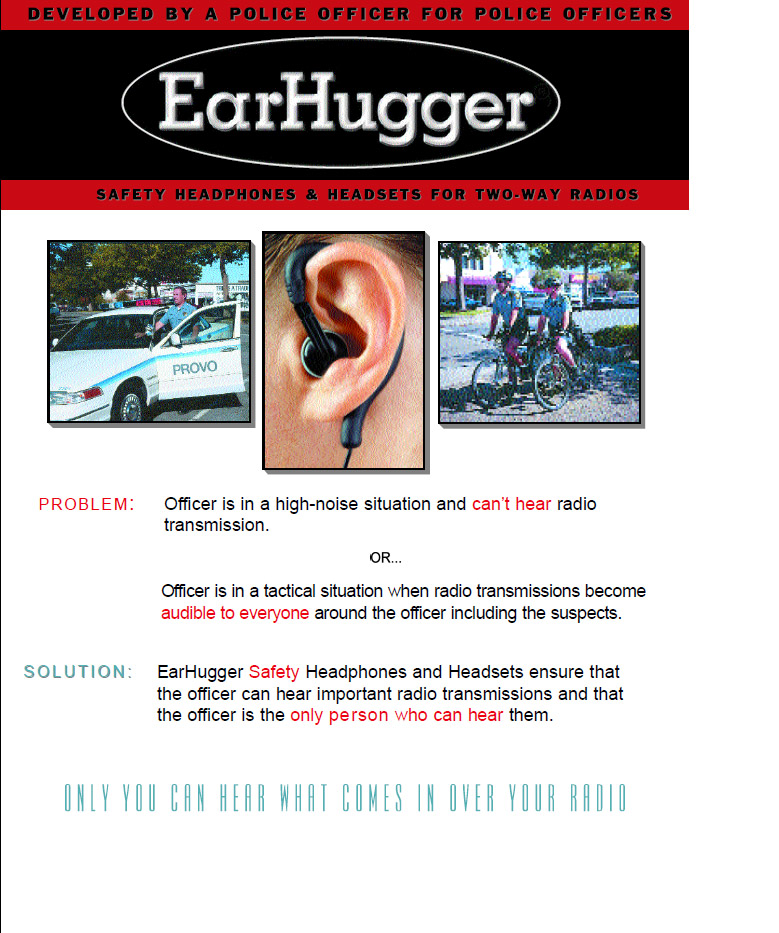 Ear Hugger Police Brochure pg Front