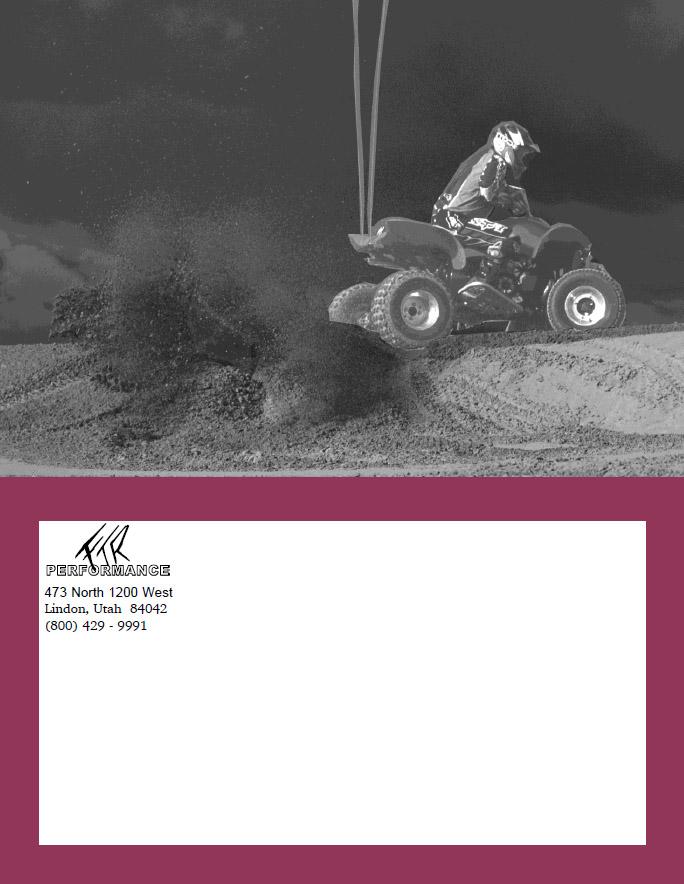FTR Catalog Back Cover