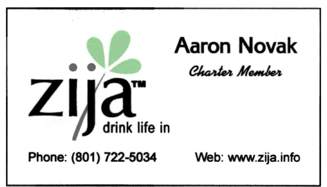 Aaron's Zija Bus Card 1
