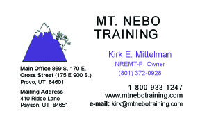 Mt. Nebo Graining Bus Card