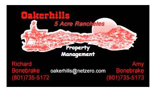 Oakerhills Real Estate Bus Card Black