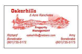 Oakerhills Real Estate Bus Card Red
