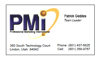 PMI Patrick Bus Card