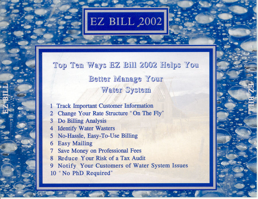 EZ Bill CD Back Cover  Label