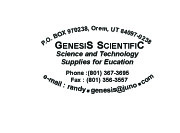 Genesis Scientific Label