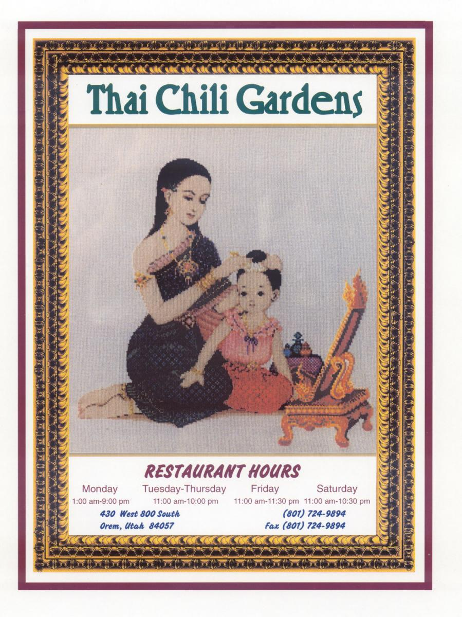 Thai Menu pg Front