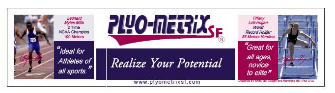 Plyo Metrix Banner Sign